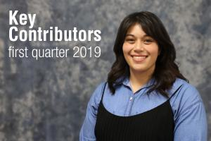 Key Contributors - First Quarter 2019